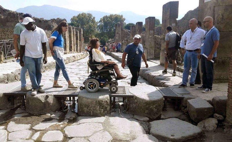 escursione pompei disabili